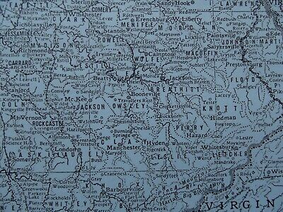 Vintage Map: Kentucky, United States, by Emery Walker, 1926, B/W 4