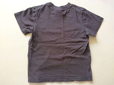 ESPRIT T-Shirt Kinder Shirt Jungs Anthrazit Grau Logo Print Gr. 104/110 2