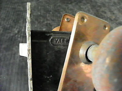 Antique Interor Yale Lock With Plates And Knobs 6307 5