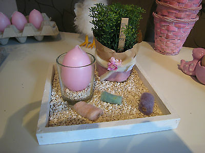 Tischdeko Kerzentablett Tischdeko Deko Ostern Shabby Osterdekoration