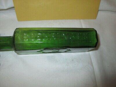 um 1900 grüne Arznei Flasche JODFERRATOSE : B & S : Boehringer , Mannheim 3