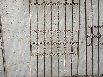 Antique Victorian Iron Gate Window Garden Fence Architectural Salvage Door #333 3