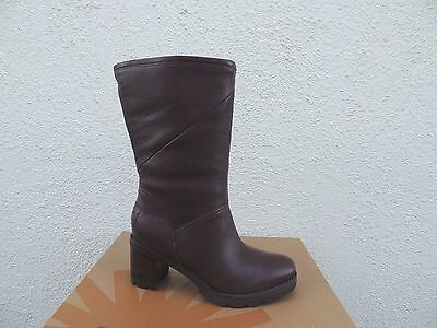 c0af450c5fd UGG JESSIA BROWN Water-Resistant Leather Sheepskin Boots, Us 8/ Eur 39 ~Nib