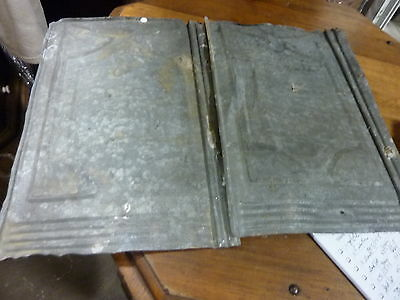 lot of FIVE (5) VICTORIAN tin tile panels MOST likely used on exterior 14 x 9.25 6