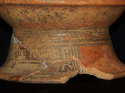 Pre-Columbian Pedestal Urn, Chimney Pot,Polychrome, Nicoya, Very Large 3