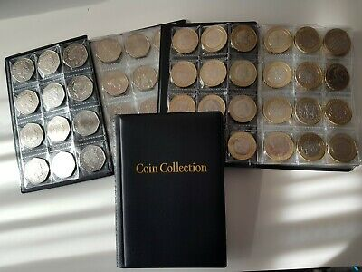 COIN ALBUM  for 120 coins. STORAGE BOOK for 50p, 2£, 1£ 2