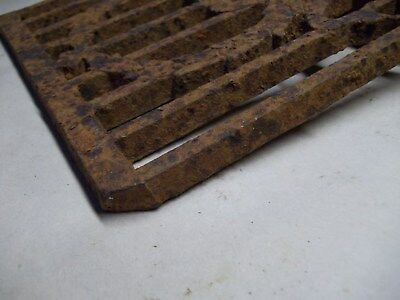 Broken part of antique furnace or stove vent or grate ? with design 6