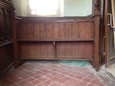 Victorian Church Neo Gothic Pew chapel settle bench Elders Seat TallSlimBookcase 2