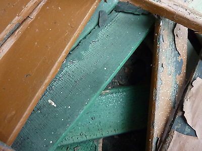 LOT of salvaged WOODEN victorian SHUTTER slats GREAT 4 ART painting projects 6