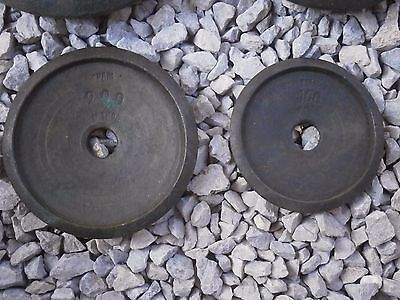 Antique Vintage Brass Weights Measures With Stamps 4 Pieces 7