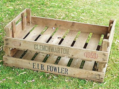 2X Vintage  Rustic Wooden Farm Tray Apple Crate Potato Chitting Bushel Box 4
