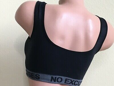 3 - 6 Sport Bras Yoga Activewear NO EXCUSE Workout TOP CAMISOLE MISS PLUS SIZE 8