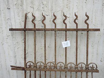 Antique Victorian Iron Gate Window Garden Fence Architectural Salvage Door #710 4