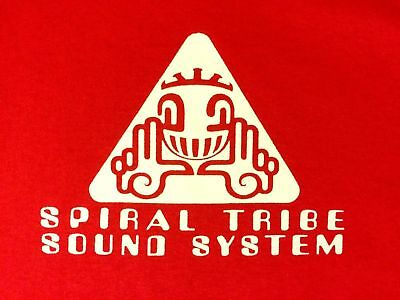 Spiral Tribe Sound System Tshirt Sp Network 23 Crystal Distortion R-Zac Acid 3