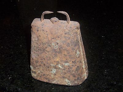 Antique Cow Bell - Medium- 5 inches in height - Forged and Riveted 7
