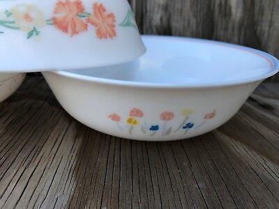 Arcopal Dishes Milk Glass Soup, Cereal Or Salad Bowls Set Of 3 Different Desig 3