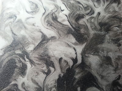2 x 100g metallic designer epoxy resin pigment  white and black
