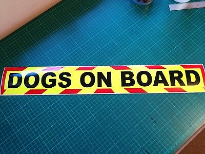 DOGS ON BOARD Magnets Magnetic Sign Trailer K9 UNIT  Chevron sticker  620mm 4