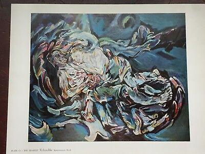 Oskar Kokoschka The Tempest Vintage Print