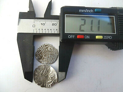 Ancient Byzantine silver coins 2 pieces 8