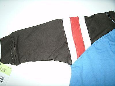 Oshkosh Boy's T-Shirt Long Sleeve Blue Brown Orange Size 3 Months New 9
