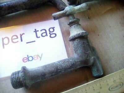 """Vintage old brass faucet. USSR 3/4"""". steampunk. USSR. works. , under 2"""