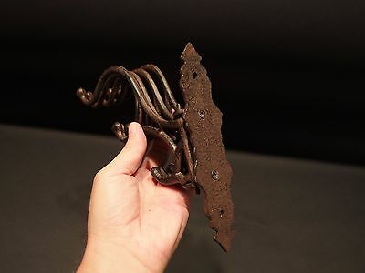 Antique Vintage Style Wall Hook Swivel Folding Coat Hanger Hardware Rust Finish 6