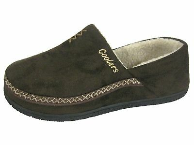 MENS COOLERS FULL FOOT SLIPPERS OUTDOOR SOLE SIZES 7 to 12 FREE POST  NEW 5