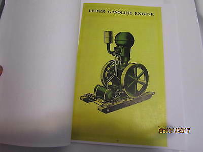 Lister Upright Gas Engine,Saws, Pumps Info manual 2