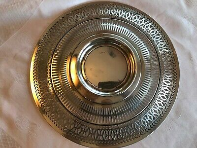 """Antique Sterling Silver Watson Co Reticulated Sandwich Plate Tray 9.5"""" Stunning 9"""