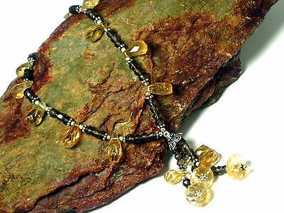 Smoky  QUARTZ / CITRINE   Gemstone  Necklace  Sterling  Silver  925 - Boxed 3