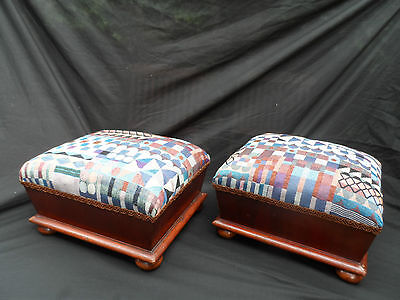 Antique pair of 19th Century Victorian foot stools . 2 • £195.00