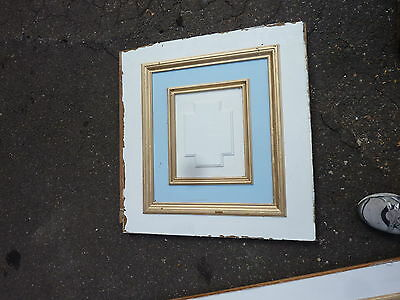 "circa 1902 painted pine WAINSCOT paneling raised panels 27/28"" x 27, 55, 61 & 72 3"