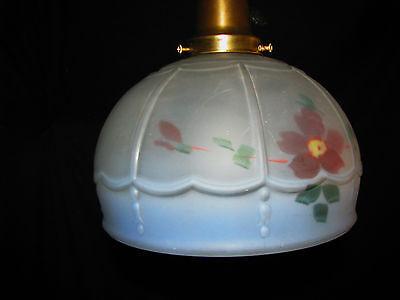 Art Deco Antique Pendant Swag Glass Shade Slip Ceiling Light Fixture Chandelier 6