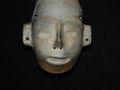 Pre-Columbian Life-Size Colima Death Mask, Shaft Tomb, Archaic, 100% Authentic 3