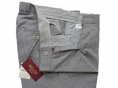 Relco Men/'s Black Pinstripe Sta Press Vintage Mods Skins Stay Pressed Trousers