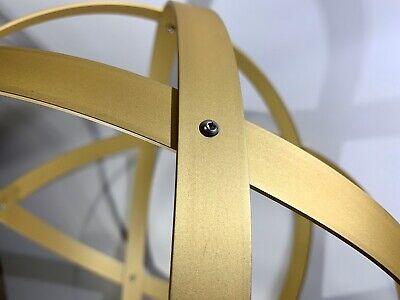 Genesa Crystal diametro 31 cm alluminio satinato oro profilo 2 cm. 5