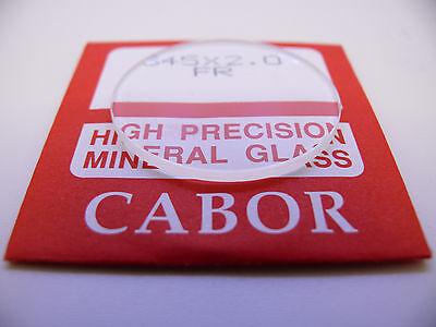 Uhrenglas 2 mm Flach ersatz glas mineralglas 25 bis 46 mm 250- 460 Replacement