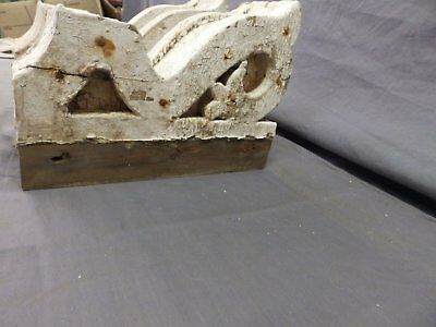 Antique Pair Wood Small Corbel Victorian Architectural Shabby Vtg Chic 506-17P 8