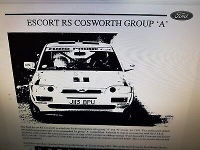 ford sierra & escort rs cosworth workshop manuals collection on cd