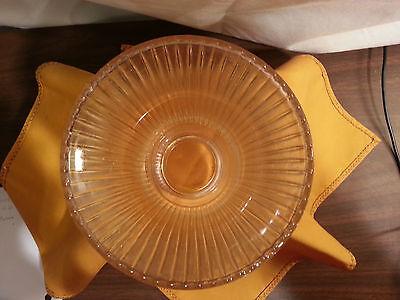 Vintage Glass Globe Lamp Light Fixture ribbed design 10