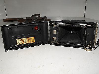 "Vintage Kodak Jiffy Strut Film Camera And Case ""In Good Vintage Condition"" 2"