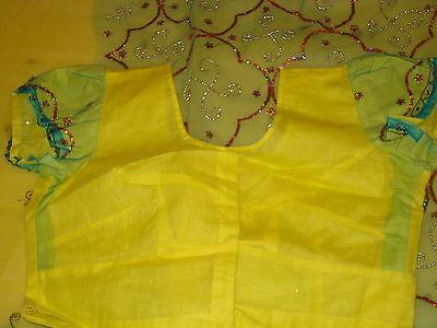 Bn Ladies/girls Net Saree & Blouse With Beadwork & Sequences 8