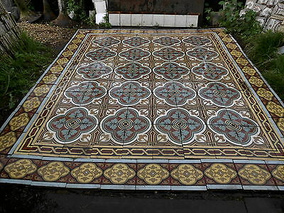 tiles victorian ceramic sand feignies perusson boch metlach boulenger 1900 3
