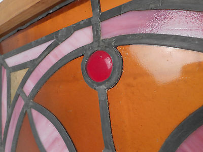 Vintage Stained Glass Window Panel (3052)NJ 4