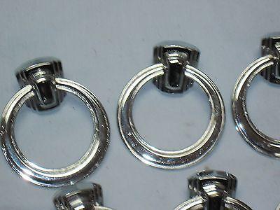 VINTAGE ART DECO Antique DRAWER DRESSER Handles Pulls Chromed Brass 2