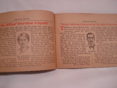 1920'S Dr Miles Written Proofs Quack Medicine Tract Booklet 4