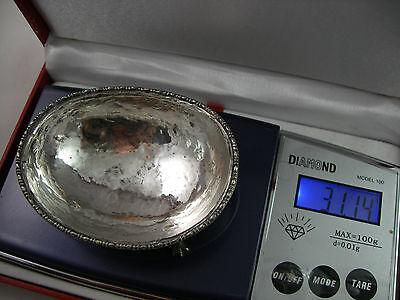 VINTAGE BEAUTIFUL 800 silver oval salt of 18th Century design 10