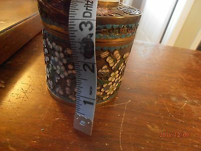 Asian Antique Chinese Trinket with Jade Marked with Red Letters CHINA