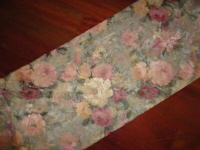 """Wedding Wing Quilted Blouson Valance JC Penney 17.5/"""" x 84/"""" Blue Pastel"""